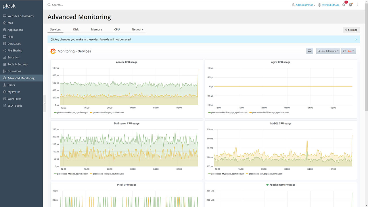 Neue Grafana Monitoring